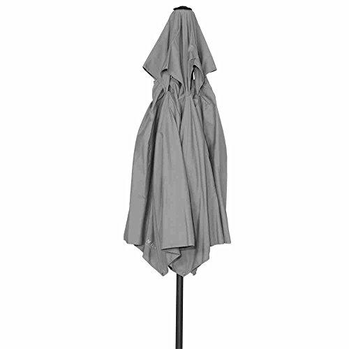 MWH Push-Schirm Lite, eisengrau/hellgrau, 180x300x300 cm, 879870