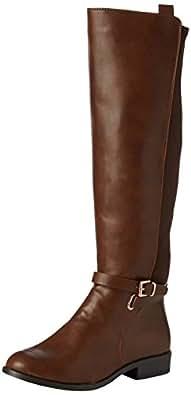 New Look  Wide Foot Egbert, Bottes femme - Marron - Brown (18 Tan) - 42 EU (UK: 8)