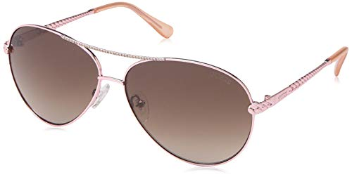 Guess Unisex-Erwachsene GU7470 28F 60 Sonnenbrille, Gold (ORO Rosa Lucido/Marrone Grad)