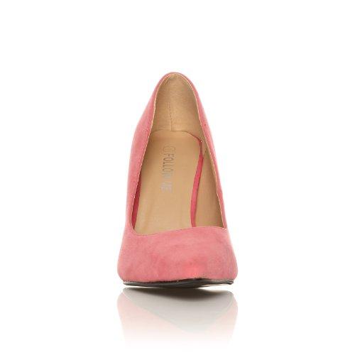 DARCY Scarpe da donna tacco alto stiletto punta arrotondata colore corallo finto scamosciato SCAMOSCIATO CORALLO