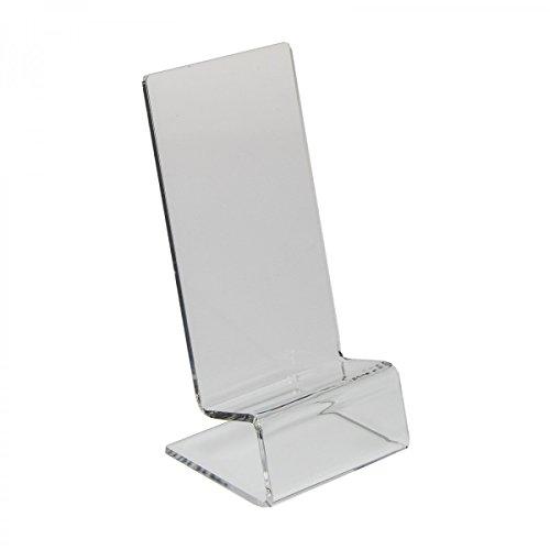 Avà srl espositore in plexiglass per cellulari/smartphone - misura: 7x7x h14,5 cm