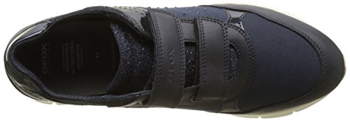 Geox Sukie B, Sneakers Basses Mixte Adulte Bleu (Navy)