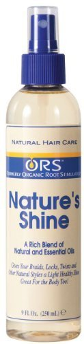 Organic Root Stimulator Spray Nature's Shine pour Tresses Locks Twists et autres Styles Naturels Natural Hair Care 250ml