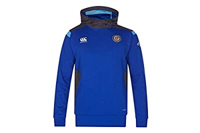 Bath 2017/18 Players Fleece Hooded Rugby Sweat - Surf The Web from Canterbury