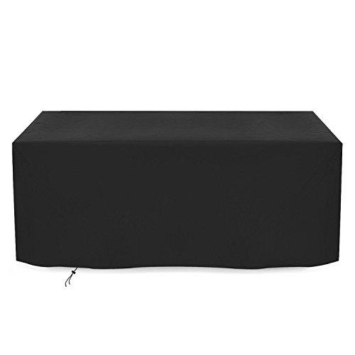 Dokon Abdeckung für Gartenmöbel Wasserdichtes Atmungsaktives Oxford-Gewebe Sitzgruppe Abdeckhaube, Rechteckig (242x162x100cm) - Schwarz