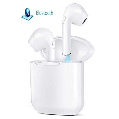 roycase Écouteurs Bluetooth, Oreillette Bluetooth avec HD Microphone et boîtier de Chargement, Wireless Intra-Auriculaires à réduction de Bruit Compatible avec la Plupart des Marques de Smartphones