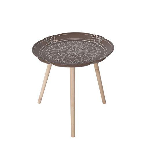 TangMengYun Table d'appoint géométrique minimaliste nordique, table basse en résine, meuble latéral de table ronde créative (Taille : B-39.5 * 43.5cm)