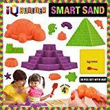 IQ BUILDER Sinnes Spielzeug Kreative Educational Art Spielen Sand für Jungen und Mädchen im Alter von 3 4 5 6 7 8 9 10 Jährige mit (Fun Moldable KIT Synthetic Strandsand)
