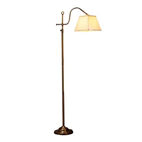 Bronze-nickel-stehleuchte (ZHANG NAN ● Stehleuchte, American Simplicity Retro Wohnzimmer Schlafzimmer Studie Ländliche dekorative Lichter Bronze 25 x 153 cm Kreativ ●)