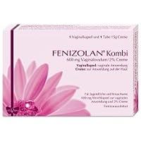 Preisvergleich für Fenizolan Kombi 600mg Vaginalovulum und 2% Creme, Spar-Set 2x1 Vaginalkapsel und 2x15g Creme. Zur Behandlung von...
