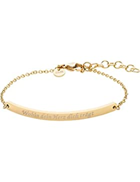 GMK Collection by CHRIST Damen-Armband Edelstahl One Size, gold