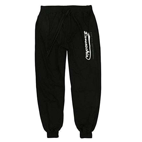 Herren Jogginghose von Lavecchia in Übergröße aus 90% Baumwolle in schwarz: 6XL