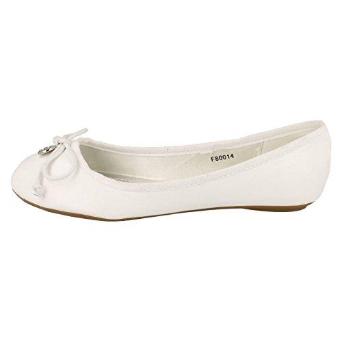 Spot On , Ballerines pour femme Blanc blanc Blanc - blanc