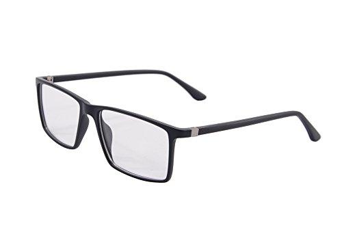 Preisvergleich Produktbild SHINU Rechteckige Anti-Blau-Licht-Brille-Computer-Gläser Blaues Licht-Blockieren Lese-Gläser UV400 Schutz-9195 (matte black)
