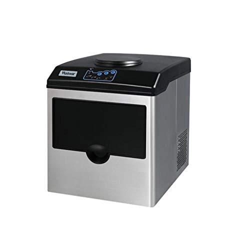 Machine à glaçons commerciale 2 en 1 avec distributeur d\'eau - 12 Bullet Ice / 8 min - Machine à glace très efficace, Machine à glaçons pour glaçons Bullet, 55 lbs / 24h