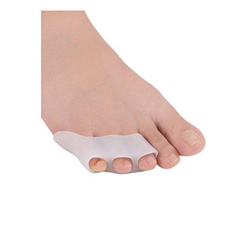 OULII Paar Zehenspreizer Gel Toe Separator Zehentrenner (Weiß)