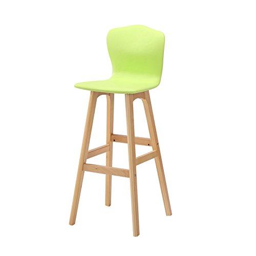 Back-stil Barhocker (ANDEa Massivholz Bar Hocker, High-back Stuhl Bar Counter Hochstuhl Coffee Shop Hocker Restaurant Shop Kassierer Hochstuhl Einfache Haushalt Freizeit Stuhl 65-74cm Originalität ( Farbe : #1 , größe : 74cm ))
