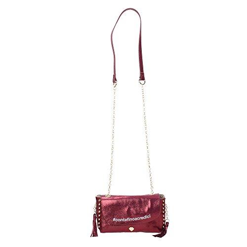 Borsa Tracolla Pandy Bag CREDICI Violet Bordeaux