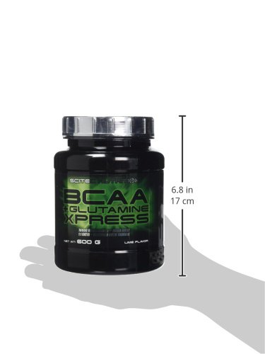 31wHL4w7euL - Scitec Nutrition BCAA + Glutamine Xpress, Fortified with Taurine, Sugar Free, 600 g, Lime