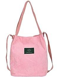 06d81b8023f34 JAGENIE Frauen Cord Schulter Einkaufstasche Tote Paket Crossbody Lässige  Handtasche Top Griff Taschen