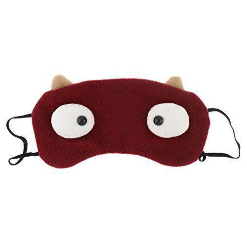 HOXUAN - Máscara de ojos grandes para dormir, diseño de monstruo con dibujos animados en 3D