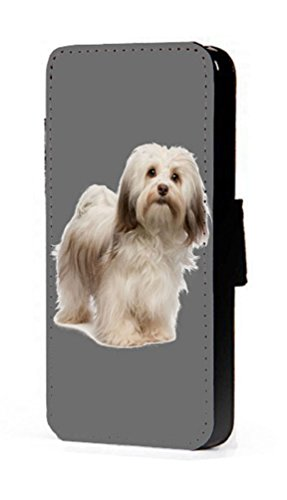 Havaneser Spielzeug Hund Kunstleder Wallet Handy Schutzhülle für iPhone 45C 6S Samsung S6S5S4S3Mini, Kunstleder, Samsung Galaxy S6 (Havaneser Hund Spielzeug)