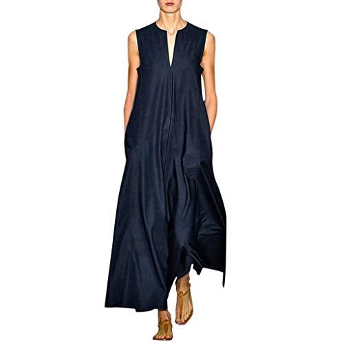 TYTUOO Damen Kleid Damen Plus Size Vintage Täglich Lässig Sommer Ärmellos Baumwollmischung (Daenerys Plus Größe Kostüm)