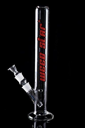 Weedstar Big Fat Joe Red-Line Glasbong Wasserpfeife Bubbler (NS 29) mit Kickloch und Diffusor-System