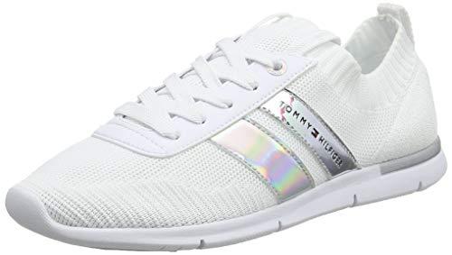 Tommy Hilfiger Damen Corporate Detail Light Sneaker, Weiß (White 100), 37 EU Details Sneaker