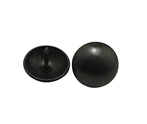Wuuycoky Runde Nägel mit großem Kopf, 19 mm Durchmesser, Schwarz (Schwarz, Polster-nägel)