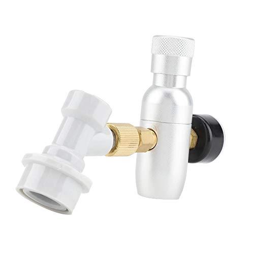 CO2-Ladegerät-Regler,Jectse Aluminium 0-60PSI,0-150PSI 16g reguliertes CO2-Ladegerät Home Bier Kegerator mit Gas trennen,für Bierbrauer(0-150PSI) -