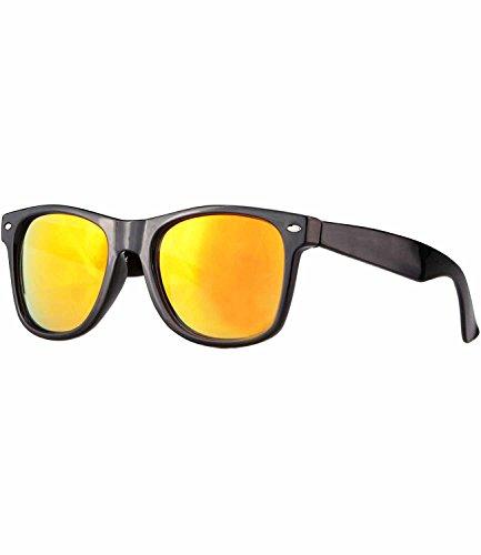 caripe Wayfarer Sonnenbrille verspiegelt - SP (schwarz - sun verspiegelt)