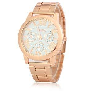 HTRHHG Damenuhr Uhren Frauen Quarzuhr Genf Rose Gold Uhr Frauen Uhren, 1 (Rose Gold Luxus-uhr Genf)