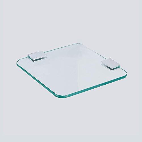 AYHa Ausgeglichenes Glas-Regal, Mehrschichtiger überlagerter rechteckiger Eckrahmen für Badezimmer-Badezimmer-Toilettenartikel-Speicher-Vollenden-Werkzeuge 22 cm-Badezimmer-Glas-Regal,1 Schicht -