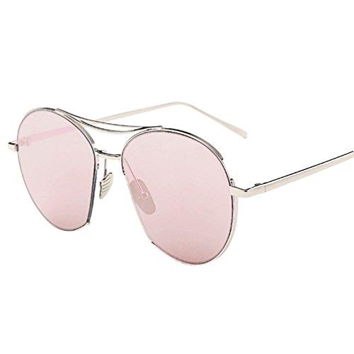 Yaancun donna telaio metallico occhiali da sole moderni fashion a specchio occhio di gatto lenti polarizzate rosa