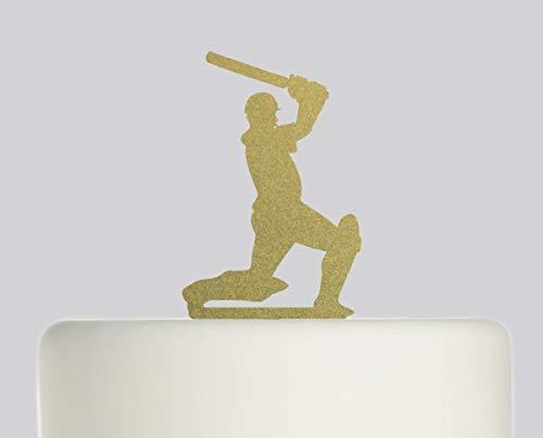 Geburtstagskuchenaufsatz - Cricket-Spieler Happy Birthday - Acryl Tortenaufsatz - Happy Birthday (Cricket-spieler)