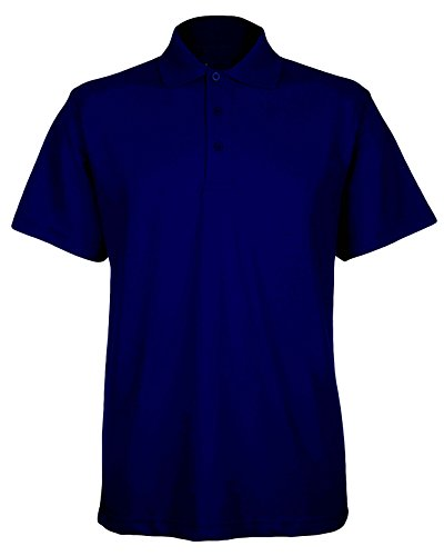 Herren Classic Pique 220gsm Polo T Shirt erhältlich in 15Farben Gr. XS bis 4X L Navy