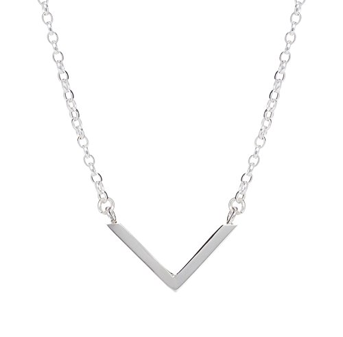 Collar Mini Chevron de plata esterlina hecho a mano