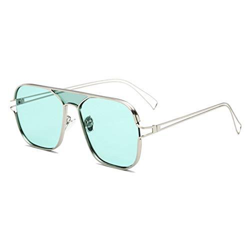 JiXuan New UV Sonnenbrillen Trend Sonnenschutz Outdoor Persönlichkeit Aviator Sonnenbrille UV400 C3
