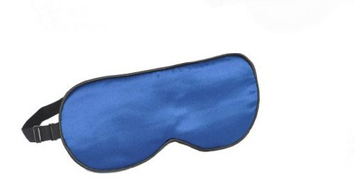 Soie Classique confortable cache oeil/cache oeil pour dormir, Bleu