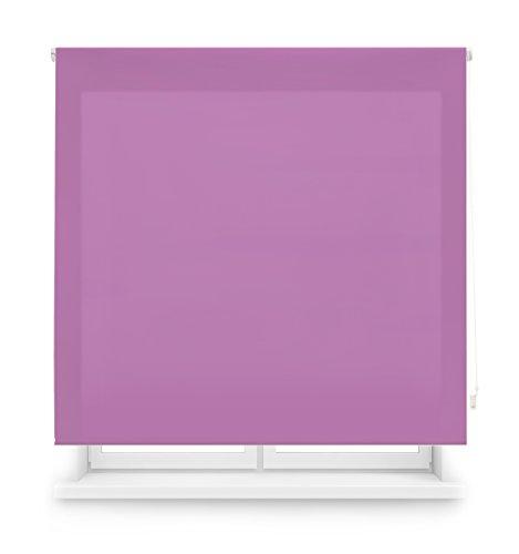 Blindecor Ara Estor enrollable translúcido liso, Morado, 140 x 175 cm