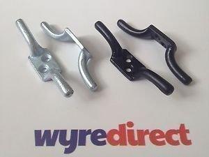 Wyre Direct 2X Keil Haken 10,2cm Wäscheleine Raffhalter Trailer Rope Pulley Line Haken Schwarz (Trailer Keil)