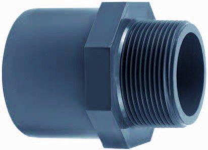 PVC raccord à sertir 20 mm x 28 mm (extérieur) x 3/8 \