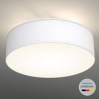 LED Fabric Ceiling Light ø 40 cm I Triple-light I Fabric Light I White I Round Bedroom Light I Kid's Room Lamp I Living Room Light Fixture I IP 20 I Easy to install