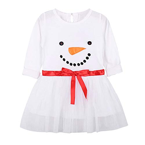18a154bf2a POLP Niño Regalo Navidad Bebe Pijama Rojo Navidad Bebe Disfraz Ropa Invierno  niña Manga Larga Camiseta Top Camisa Vestido de Manga Larga con Estampado  de ...