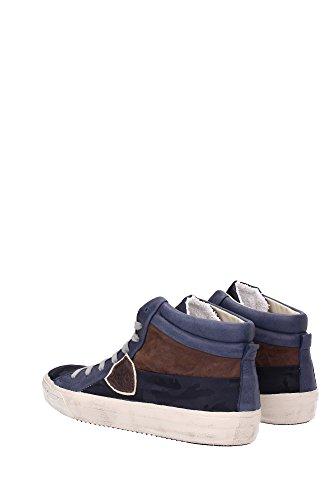 MDHUCD01 Philippe Model Sneakers Homme Tissu Bleu Bleu