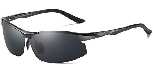 e9360592c6 WHCREAT Conducción De Gafas De Sol Polarizadas Para Hombre Sports Fishing  Marco De Metal Ultraligero Al