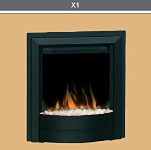 Dimplex X1 Optiflame Inset/Freestanding Black Electric Fire