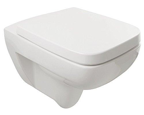 Preisvergleich Produktbild Wand-WC-Set Renova Plan | Keramag | 202125 | Weiß | Inklusive WC-Sitz | Tiefspüler