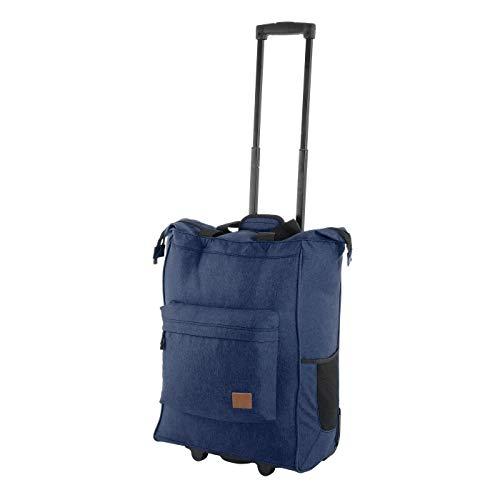 Rada ER/4 – großer Einkaufstrolley mit 35 Liter Volumen, Einkaufswagen, Handwagen, Einkaufstasche mit Rollen, Einkaufsroller, ausziehbarer Griff, robust und wasserabweisend (Blue 2 Tone Cognac)